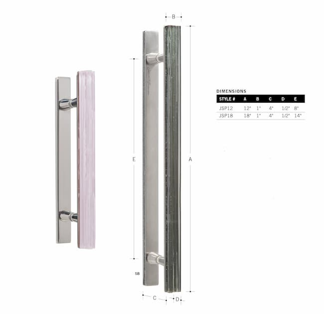 Shower Door Double Handle 12in.
